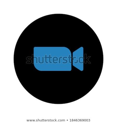 видеокамерой синий вектора икона дизайна цифровой Сток-фото © rizwanali3d