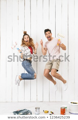 young roller couple jump stock photo © paha_l