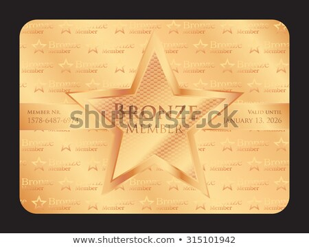 Bronze member club card with big star Stock photo © liliwhite
