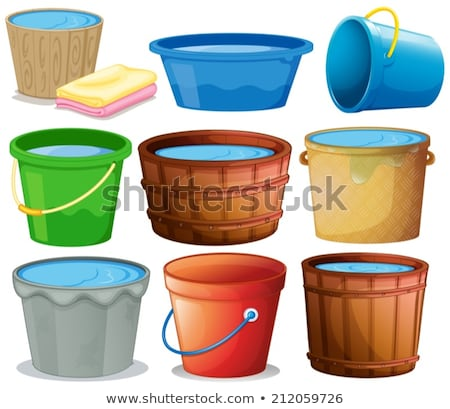 series object on white: isolated watering-can Stock photo © shutswis