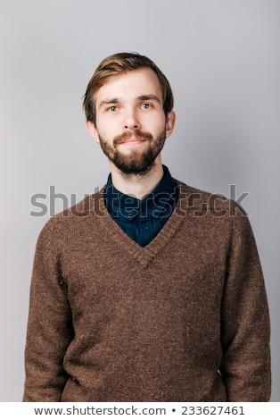Sorridere giovane blu pullover ritratto maschio Foto d'archivio © dolgachov