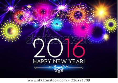 Feliz novo 2016 ano dourado bandeira Foto stock © carodi