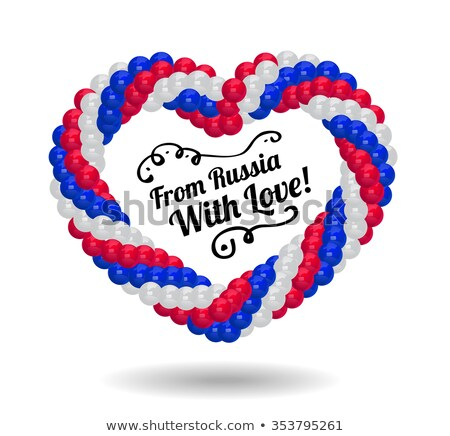 Heart made of balloons in the colors of Russian flag. Stock photo © m_pavlov