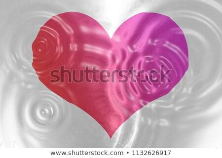 紅色 心臟 水 抽象 設計 美女 商業照片 © kirs-ua