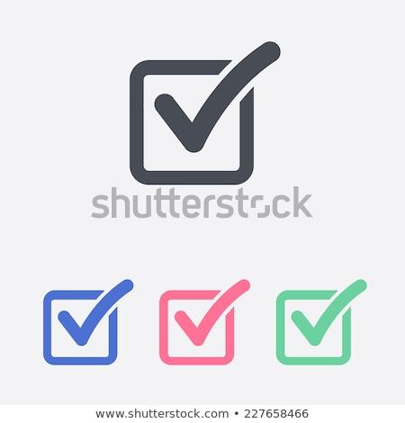 Verificar lista botão ícone teia escolha Foto stock © kiddaikiddee