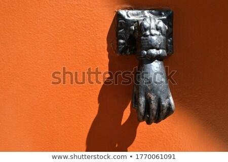 Llamador bronce marrón puerta edificio Foto stock © guillermo