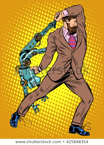 Cyclops businessman against a robot Stock photo © studiostoks