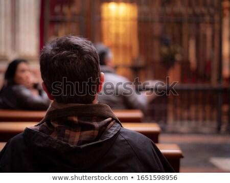 изучения · святой · Библии · будильник · очки · кофе - Сток-фото © cienpies
