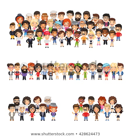 Casually Dressed Flat Characters Big Collection Stock photo © Voysla