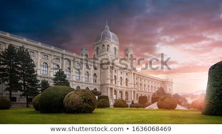 múzeum · természetes · történelem · Bécs · Ausztria · naplemente - stock fotó © artjazz