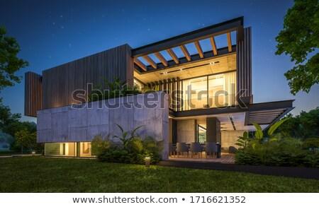 ülke ev 3d render yalıtılmış beyaz aile Stok fotoğraf © mariephoto