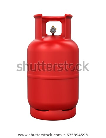 Rood gas cilinder illustratie witte fles Stockfoto © bluering