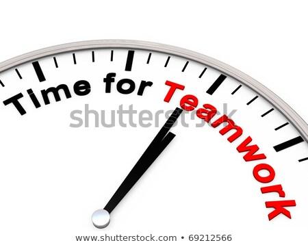Сток-фото: часы · слово · деревянный · стол · служба · таблице