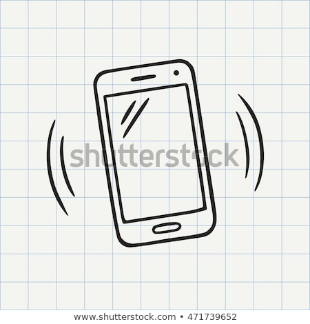 Stock photo: Doodle Mobile phone icon