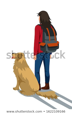 teen girl with the dog  Stock photo © OleksandrO