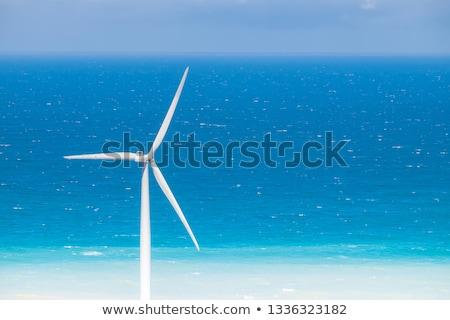 Stock fotó: Windmills Power Generators At Ocean Coastline Philippines