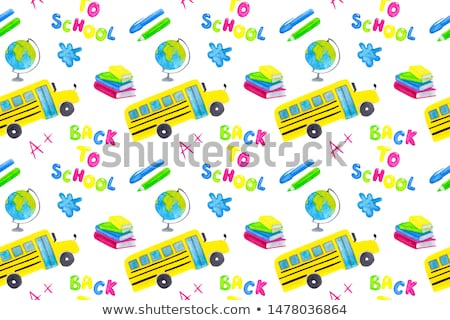 school bus seamless pattern stock photo © pakete