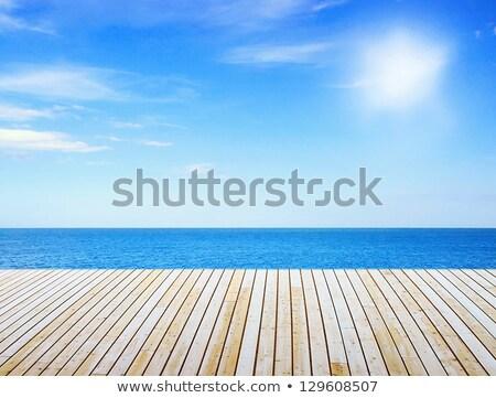 Yol dinlenmek deniz açık gökyüzü tatil plaj Stok fotoğraf © bank215