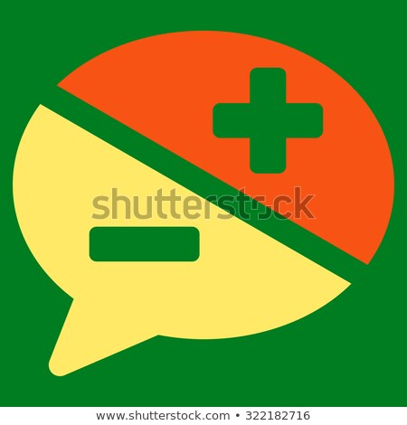 Arguments flat yellow color rounded glyph icon stock photo © ahasoft