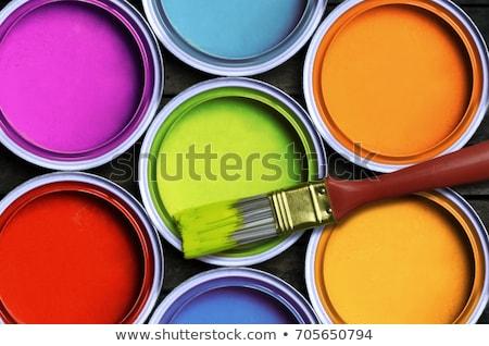 Estanho pintar ilustração branco fundo arte Foto stock © bluering
