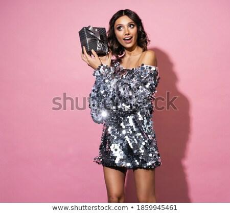 models celebrate holiday in studio stock photo © bezikus