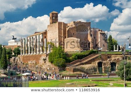 świątyni · roma · Rzym · myśl · starożytnych - zdjęcia stock © boggy