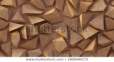Abstract rosolare triangolo basso design stile Foto d'archivio © JeksonGraphics