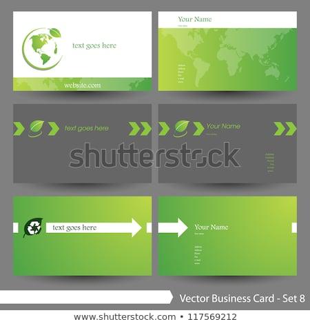Modernes carte de visite vert tourbillon modèle affaires Photo stock © SArts