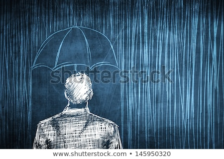 Businessman With An Umbrella In Snow Stock photo © AndreyPopov