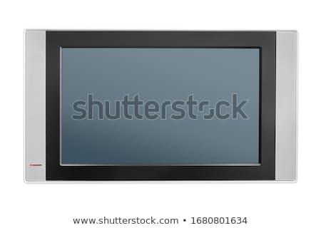 Szürke számítógépmonitor audio hangfalak szín diagram Stock fotó © robuart
