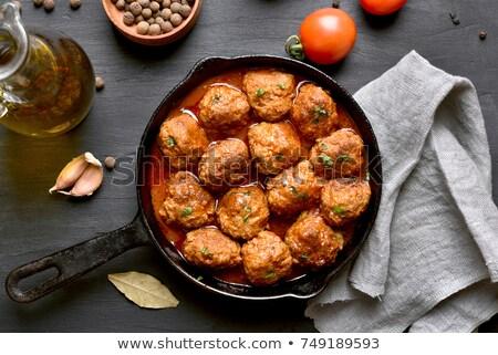 köfte · plaka · tablo · gıda · sağlık - stok fotoğraf © digifoodstock