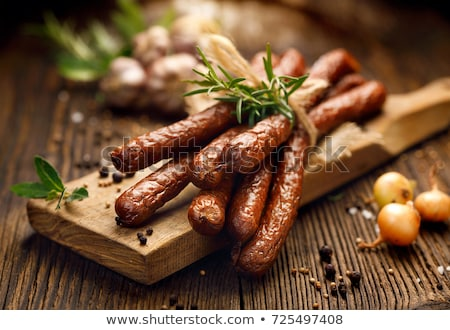 Fresh Polish sausages Stock photo © Digifoodstock