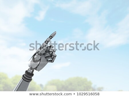Android robot hand wijzend heldere hemel Stockfoto © wavebreak_media