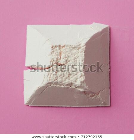 Geométrico descobrir farinha forma pirâmide rosa Foto stock © artjazz