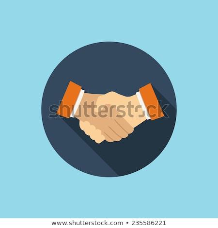 Menselijke unie icon vector stijl grafische Stockfoto © ahasoft