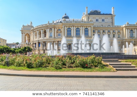building of opera theater in odessa ukraine stock photo © massonforstock