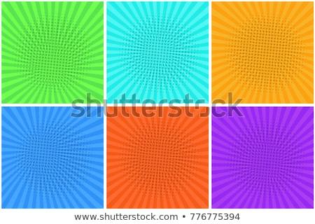 Kleurrijk dialoog gestreept vak zonnestralen kunst Stockfoto © carenas1