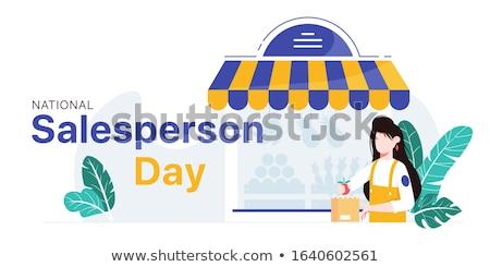Lojista fruto saco mulher comida Foto stock © IS2