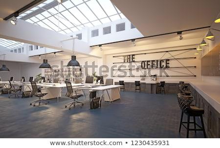 Koffiepauze interieur studio architectuur zwarte beker Stockfoto © stevanovicigor