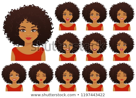 surprised shocked african american woman emotional character car stock photo © nikodzhi