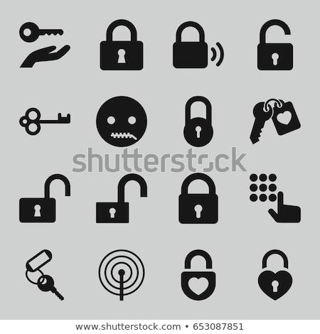 Boca bloqueo mano clave abierto candado Foto stock © MaryValery