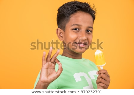 Mały Afryki chłopca lody wesoły Zdjęcia stock © RAStudio
