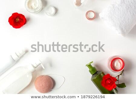 Stockfoto: Frame · rozen · Rood · mooie · bloemen · plaats