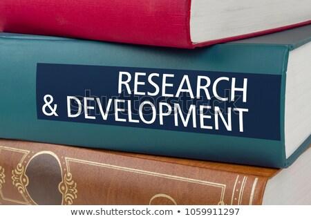 Boek titel wetenschap technologie geschreven spinnen Stockfoto © Zerbor