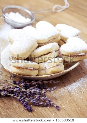 Wanilia cookie puchar włoski biały żywności Zdjęcia stock © Digifoodstock