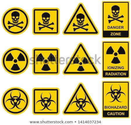 químico · arma · assinar · ilustração · branco · projeto - foto stock © szsz