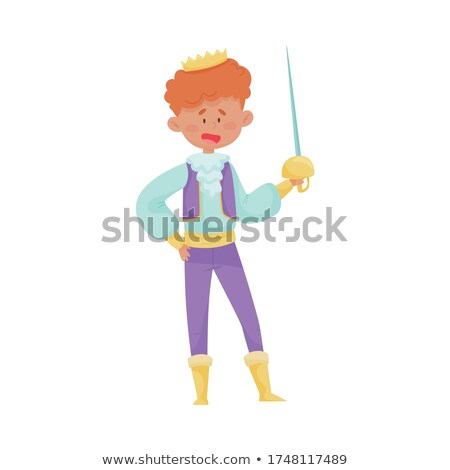Children wearing fencing costumes Stock photo © IS2