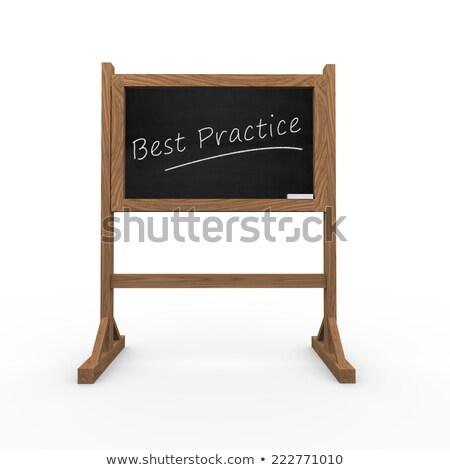 Best praktijk zwarte schoolbord 3D Stockfoto © tashatuvango