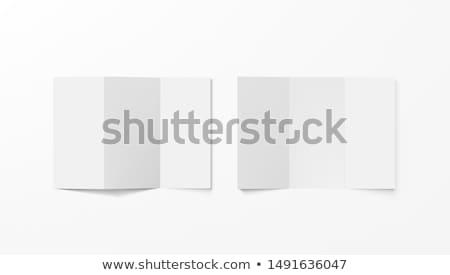 Három papír vektor vázlat üzlet háló Stock fotó © SArts
