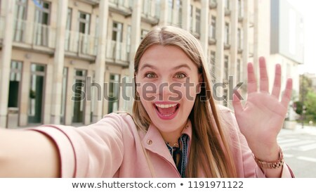 Young girl standing outdoors Stock photo © IS2